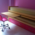 Cama nido con cajones y escritorio incorporados