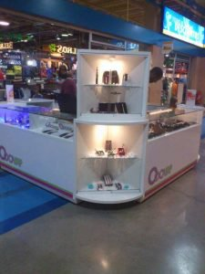 Expositor para stand comercial